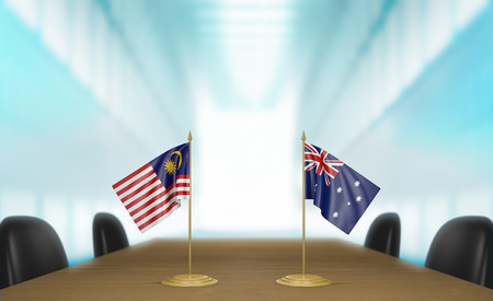 relations: Malaysia and Australia relations and trade deal talks, 3D rendering