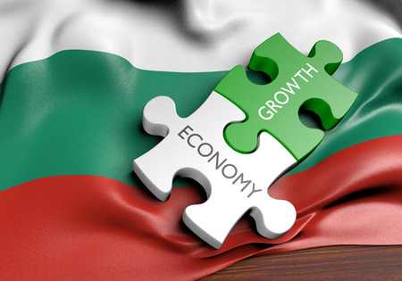 capital gains: Bulgaria economy and financial market growth concept, 3D rendering Stock Photo