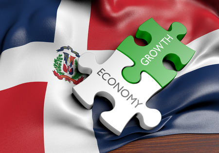 capital gains: Dominican Republic economy and financial market growth concept, 3D rendering