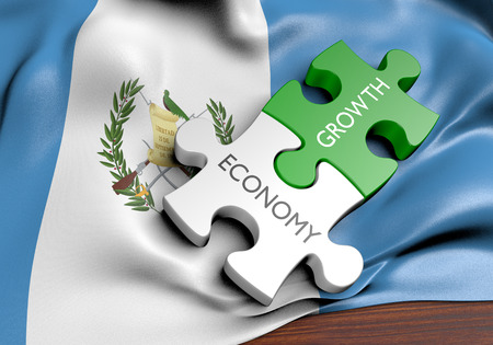 financial growth: Guatemala economy and financial market growth concept, 3D rendering