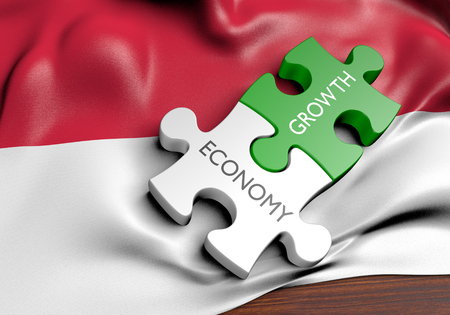financial growth: Indonesia economy and financial market growth concept, 3D rendering