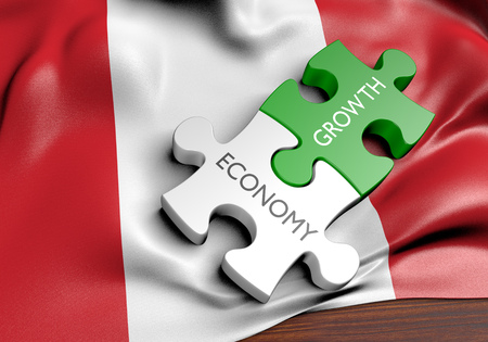 financial growth: Peru economy and financial market growth concept, 3D rendering