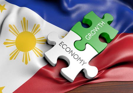 Philippines economy and financial market growth concept, 3D rendering Reklamní fotografie