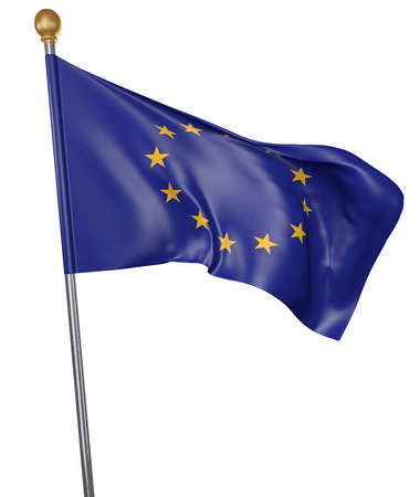 Flag for the European Union isolated on white background, 3D rendering