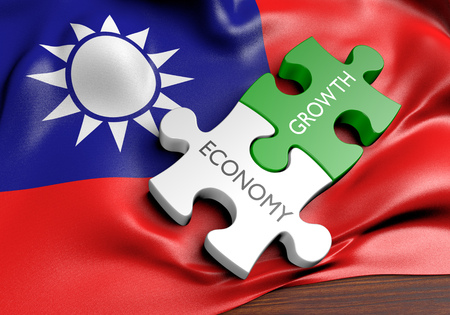 financial growth: Taiwan economy and financial market growth concept, 3D rendering