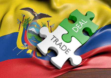 Ecuador trade deals and international commerce concept, 3D rendering Stock Photo