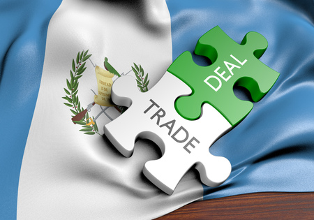 treaty: Guatemala trade deals and international commerce concept, 3D rendering