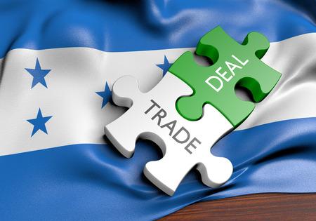Honduras trade deals and international commerce concept, 3D rendering