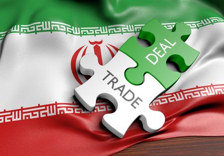 Irán ofertas comerciales y el concepto de comercio internacional, 3D