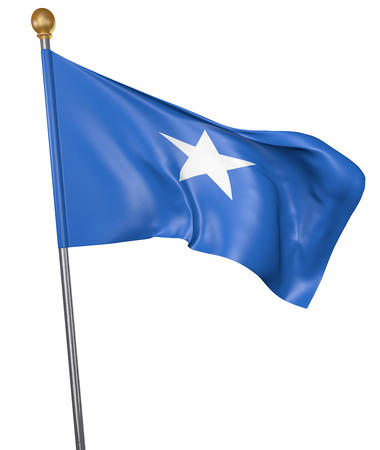 somalian: National flag for country of Somalia isolated on white background, 3D rendering