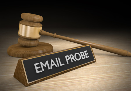 Criminal law concept for email probes and data investigations