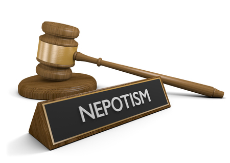 nepotism: Nepotism laws against favoring friends and relatives for jobs and business advantages, 3D rendering