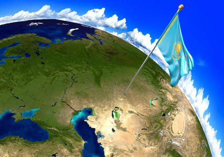 Estonia national flag marking the country location on world map kazakhstan national flag marking the country location on world map 3d rendering parts of gumiabroncs Choice Image
