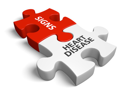 Coronary heart disease signs and symptoms concept, 3D rendering