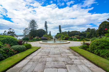 Formal flower gardens of the historic Sydney Government House in Australia Stock Photo