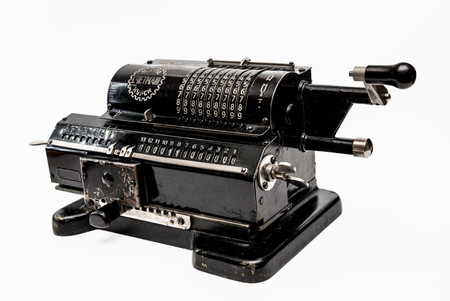 Old mechanical arithmometer - calculator made in USSR