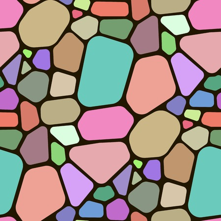 Seamless pattern with different polygon shapes. Colourful abstract background. Textile geometric pattern