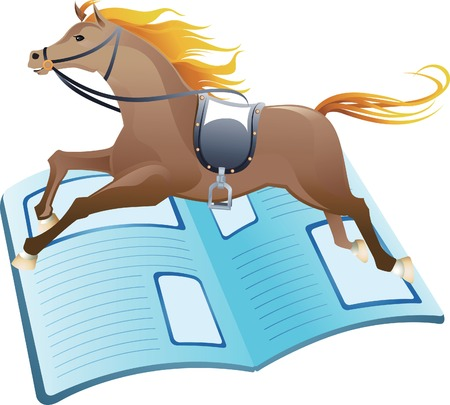 Horse Racing News Vector