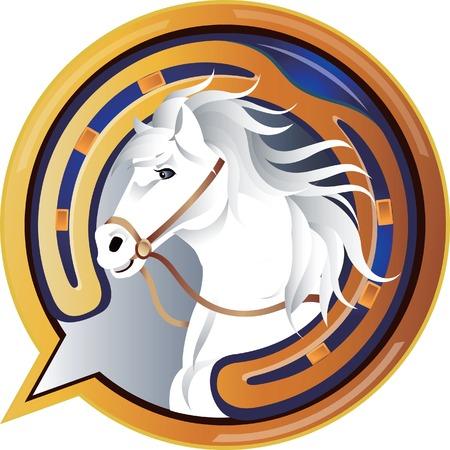 Jockey paard pictogram Vector Illustratie