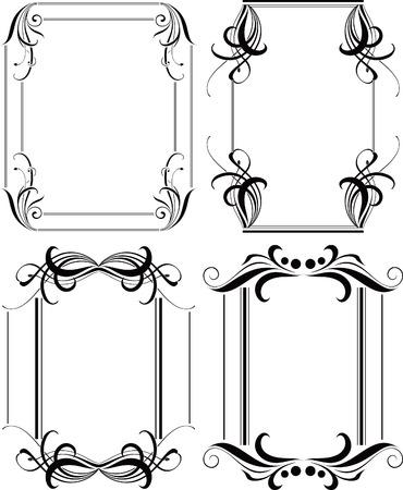 bordure floral: Floral Frame de bordure ensemble 6