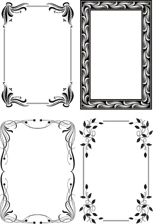 bordure floral: Floral Frame de bordure ensemble 5