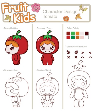Fruit and Vegetable Baby ------ Tomato Illustration