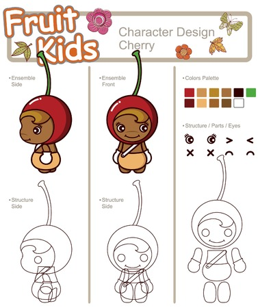 Fruit and Vegetable Baby ------ Cherry Illustration