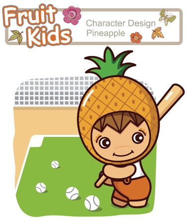 Active Kid 13 ------ Baseball Illustration
