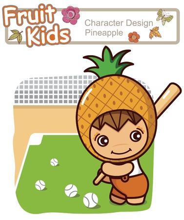 Active Kid 13 ------ Baseball Illustration