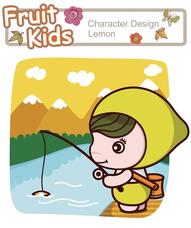 Active Kid 17 ------ Angling for Fish Vector
