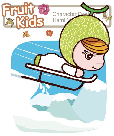 Active Kid 3 ------ Winter Ski Illustration