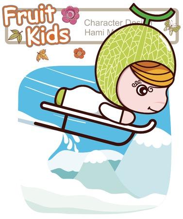 Active Kid 3 ------ Winter Ski Illustration