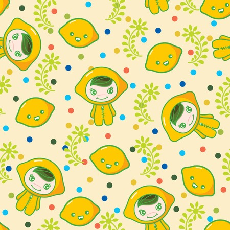 Fruit and Kid Pattern 11