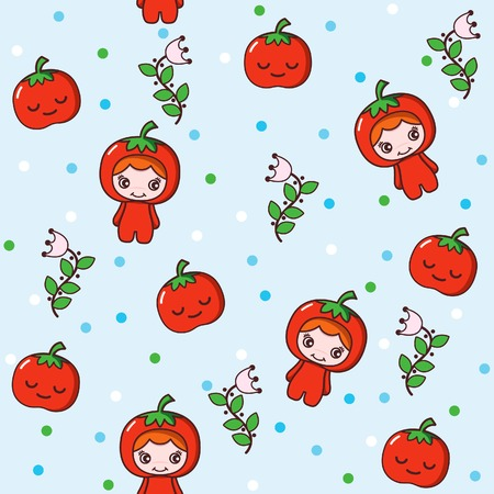 Fruit and Kid Pattern 2