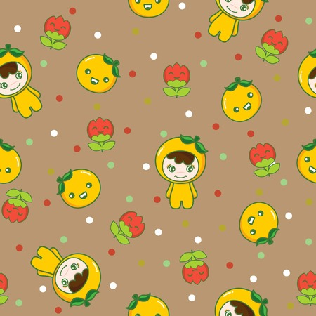 Fruit and Kid Pattern 4