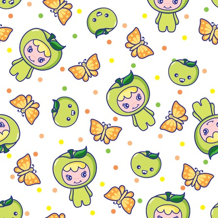 Fruit and Kid Pattern 7