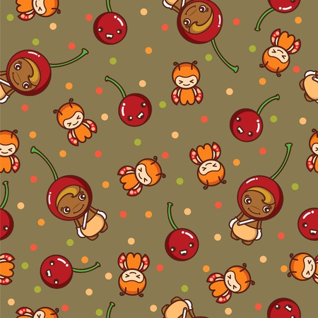 Fruit and Kid Pattern 9