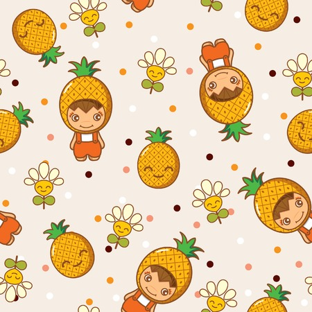 abstract fruit: Fruit and Kid Pattern 13