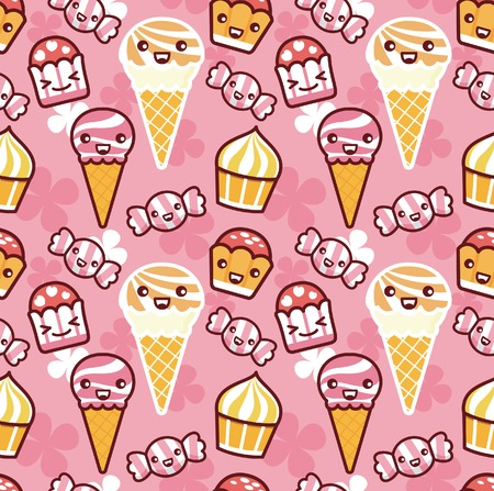 girlish: Sweet Food Illustration