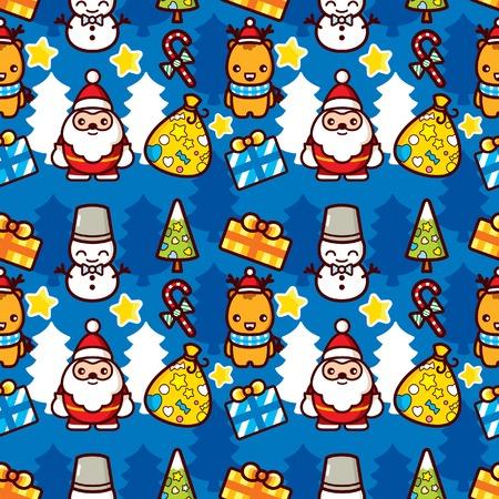 Christmas Cartoon Characters Vector