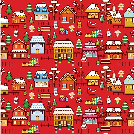 Christmas Villas Town Stock Vector - 7933115