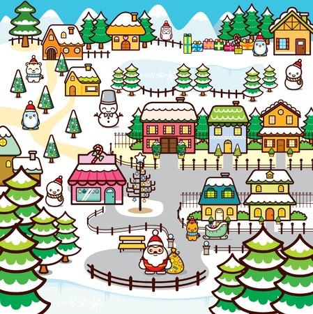 snowy owl: Christmas Town
