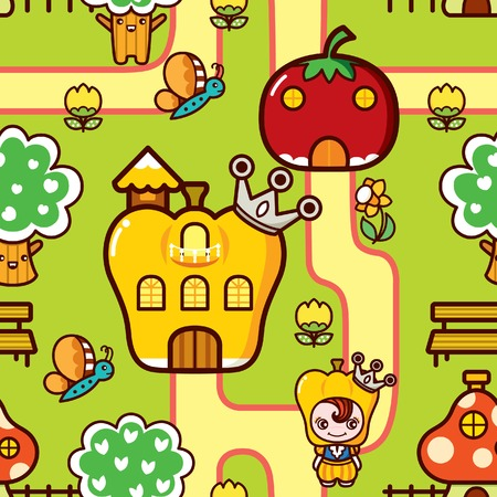 Cartoon Vegetable Dreamland Vector
