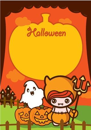 Halloween Holiday Demon Kid Background