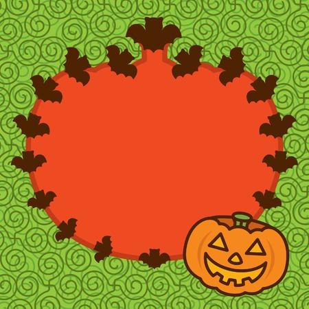 Halloween Pumpkin Frame Background Vector