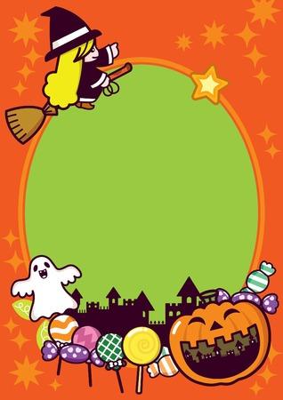 Halloween Holiday Frame Background