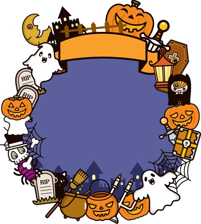 Halloween Holiday Frame Background Stock Vector - 8084910