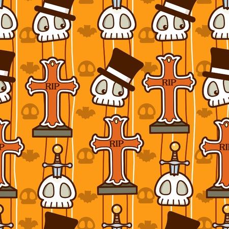 Halloween Skull Cross Vector