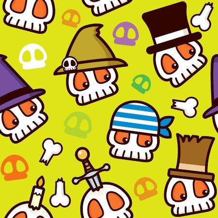 pirate skull: Patr�n de calavera de pirata de Halloween