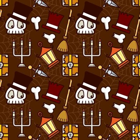 Halloween Holiday Skull Element Pattern